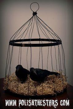 Embroidery Hoop Birdcage
