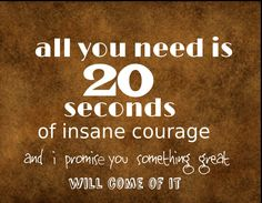 inspirational Plaque / Sign { 20 seconds of courage} Rustic country vintage new #Contemporary