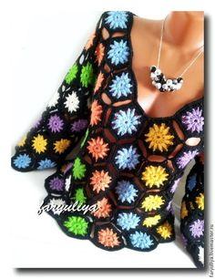 Fabulous Crochet a Little Black Crochet Dress Ideas. Georgeous Crochet a Little Black Crochet Dress Ideas. Crochet Bodycon Dresses, Black Crochet Dress, Crochet Cardigan, Débardeurs Au Crochet, Love Crochet, Crochet Flowers, Crochet Tops, Festival Blouses, Crochet Clothes