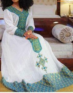 100 Amazing Modern & Traditional Dress (Habesha Kemis/Kemise) of Ethiopia in 2020 — allaboutETHIO Ethiopian Wedding Dress, Ethiopian Dress, Ethiopian Traditional Dress, Traditional Dresses, Modern Traditional, African Wear, African Fashion, Habesha Kemis, Kente Dress