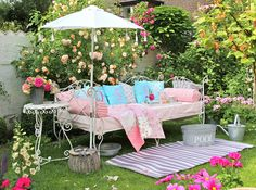 Bright and cheery and full of delightful flowers.  The perfect spot.
