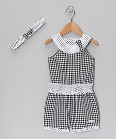 Coming in a traditional print and a trendy yoke silhouette, this romper is as classic as it is cool. Pop on some more pretty with the matching headband. Includes romper and headband60% cotton / 40% polyesterMachine wash; tumble dryImported