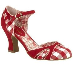 d233861a LADIES RUBY SHOO JERALDINE RED AND WHITE GINGHAM VEGAN FRIENDLY SHOES 09272  #RubyShoo #Dress