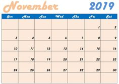 Floral Cute November 2019 Calendar Printable Template for Kids & Students Cute Calendar, Kids Calendar, Print Calendar, Calendar Printable, Calendar Design, November Calendar 2019, November Month, Calendar Wallpaper, Class Schedule