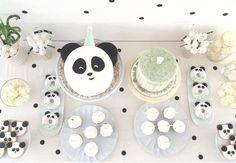 Mesa do Bolo Panda