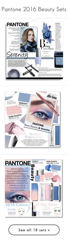 """""""Pantone 2016 Beauty Sets"""" by tawnee-tnt ❤ liked on Polyvore featuring beauty, CamelBak, Christian Dior, serenity, pantone, pantone2016, pantonebeauty, Stila, Rimmel and Waterford"""