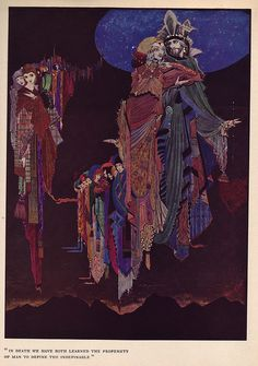 A Harry Clarke illustration for Edgar Allan Poe's Tales of Mystery and Imagination