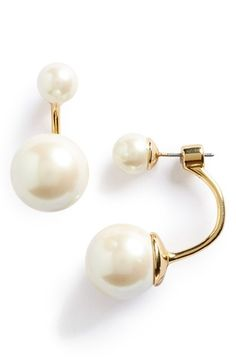 $38.00. kate spade new york kate spade new york faux pearl ear jackets available at #Nordstrom