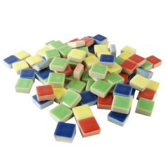 Jennifer's Mosaics Deco Ceramic Mosaic Tile, Assorted Colors Mosaic Supplies, Ceramic Mosaic Tile, 1 Pound, Home Improvement, Ceramics, Deco, Mosaics, Glass, Colors