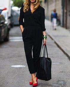 45 Stylish Summer Outfit Ideas With Jumpsuit You Should Try To Work fashion # fashion Fashion Mode, Work Fashion, Womens Fashion, Fashion Trends, Fashion Black, Fashion News, Style Fashion, Women's Office Fashion, Fashion 2018