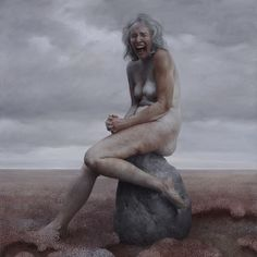 Aleah Chapin paints older women, in oils. Her work is beautiful, as are her models.