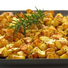 Rosemary and garlic roast potatoes. Beware making this with very floury potatoes. Otherwise failsafe and a Rowe family favourite.