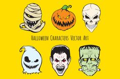 High Quality Halloween Characters Vector Art / by jellypixel