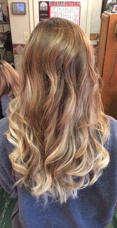 Blonde natural ombré