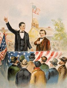 What Were the Results of the Lincoln-Douglas Debates?: Illustration Of Lincoln And Douglas Debate, c. 1858.