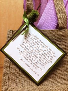 10 Gorgeous Wedding Welcome Bag Tags Hotel Out Of Town Guest Bags