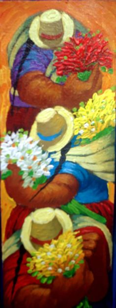 ofrenda                                                       … Mexican Art, Mexican Style, African Paintings, Southwestern Art, Pastel, Great Paintings, Native Indian, People Art, Pictures To Paint