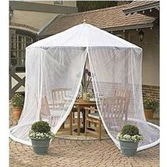 Umbrella Mosquito Net Canopy Patio Set Screen House Outdoor Garden Net  Canopy