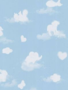 Cloud Shapes Nursery Wallpaper
