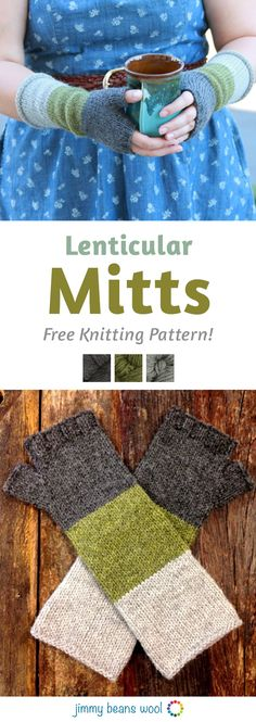 Lenticular Mitts Free Knitting Pattern | Free Knitting Pattern | Knit Your Own Beanie | Knitting For Beginners | How To Knit For Beginners Step By Step | Beginners Knitting Patterns | How To Knit Step By Step | Jimmy Beans Wool