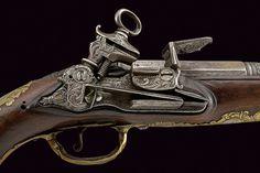 Pistola de pany miquelet possiblement feta a Nàpols cap a meitat del XVIII.