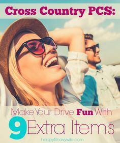 """Cross Country PCS: Make Your Drive Fun With 9 Extra Items"" These are great for military families-- will be using!"