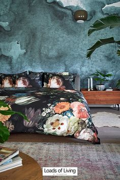 Bring the outside in with this dark and dramatic floral print duvet cover set. Set on a deep palette of wintery berry hues, with pops of radiant pink and orange, it creates a sophisticated statement in any bedroom. 👌 Bedroom Orange, Foam Pillows, Flat Sheets, Duvet Cover Sets, Memory Foam, Comforters, Berry, Pillow Cases, Bedding