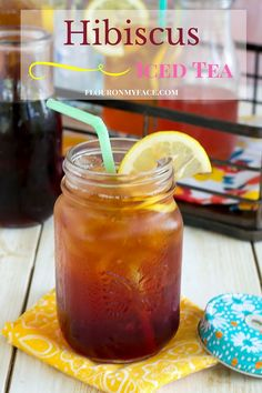 Hibiscus Iced Tea Recipe Flavored iced tea is so fun to make during ...