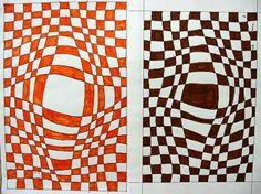 Op-Art Vasarely dort viele Bilder u Schablonen zum Download