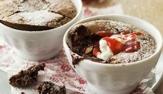 Rich chocolate pudding with berry sauce - So decadent it's almost sinful. Adjust the amount of icing sugar needed in the berry sauce according to the sweetness of the berries, and your personal taste. Berry Sauce, Personal Taste, Recipe Search, Winter Warmers, Chocolate Pudding, Baking Recipes, Delicious Desserts, Icing, Berries