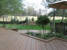 Built In Planters for Deck by Archadeck - Modern Metal Pergola, Cheap Pergola, Pergola Patio, White Pergola, Backyard Patio, Pergola Plans, Pergola Kits, Pergola Ideas, Backyard Ideas
