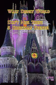 It's time for the holidays at Walt Disney World and there is so much to see and so little time.  Here are the top 5 MUST SEE attractions and events for your Disney vacation.  #wdw #pixievacations #mousechat #griswold #waltdisneyworld #disneyworld #vacation #christmas
