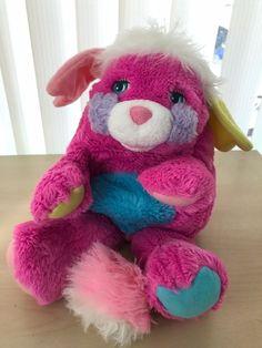 "Rare Vintage 1980s Mattel Pink Prize Popples Plush Stuffed Toy 11"" #Mattel"