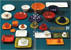 Fiskars melamine dishes from the 60's.