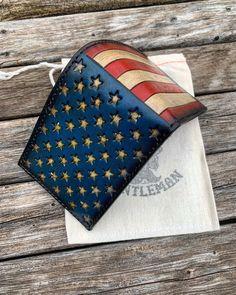 Freedom Bifold. Custom wallet #leathercraft #fashion #mensfashion #handmade #propergentleman