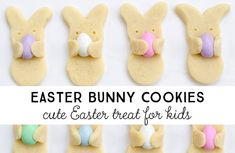 Make these adorable Easter bunny cookies that look like they're carrying Easter eggs. All you need is your favorite sugar cookie recipe, Jordan almonds, and a cookie cutter.