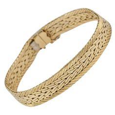 1960s Cartier Paris Woven Gold Bracelet