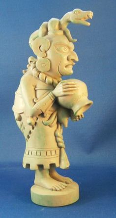 IXCHEL CRONE STATUE from Mexico's Island of Women, Isla Mujeres 8.25 inches high Ganges Clay Statue Dusty jade color finish.  Ixchel's hurri...