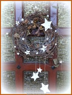 Exceptional The Door Crown, Version 20 - Sylvies oranges Internet-Tagebuch Exceptional The Noel Christmas, Primitive Christmas, Christmas And New Year, All Things Christmas, Christmas Wreaths, Christmas Crafts, Xmas, Primitive Decor, Scandinavian Christmas Decorations