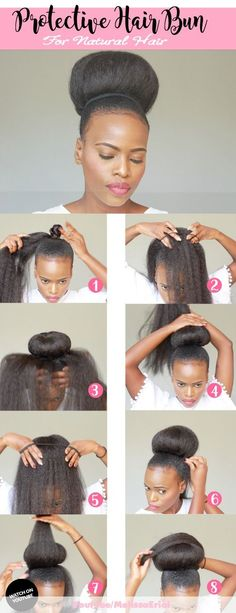 natural hair bun for black women tutorial styles with headband for short hair high with weave that is sleep and messy using jumbo hair braid. Braided Bun Hairstyles, Natural Afro Hairstyles, My Hairstyle, African Hairstyles, Black Women Hairstyles, Wedding Hairstyles, Modern Hairstyles, Beautiful Hairstyles, African American Natural Hairstyles