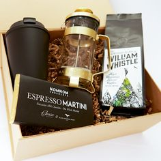 TwinkleBoxCo 'An Elegant Start' coffee gift box. For coffee lovers this is a true celebration of the bean. TwinkleBoxCo 'An Elegant Start' coffee gift box. For coffee lovers this is a true celebration of the bean. Gift Box For Men, Gift Baskets For Men, Gift For Lover, Coffee Box, Coffee Gifts, Coffee Lovers, Coffee Ideas, Gift Box Design, Tiny Gifts
