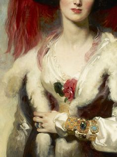 Detail from Julia, Lady Peel, 1827  Sir Thomas Lawrence