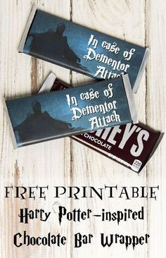 Free printable Harry Potter chocolate wrapper