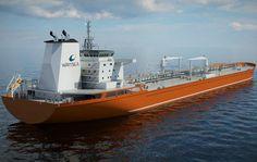 New Aframax Tanker Design by Wärtsilä Merchant Navy, Merchant Marine, Tanker Ship, Oil Tanker, Water Crafts, Ships, Boats, Design, Concept