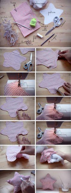 DIY Lampe tissu étoile