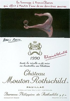 Château Mouton-Rothschild 1990  by Francis Bacon
