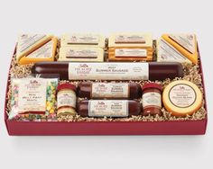 Shop Deluxe Smokehouse Collection Gift Box and Gourmet Fruit and Cheese Christmas Fruit Gift Baskets from Hickory Farms