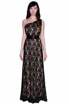 Beautifly Women's Lace One Shoulder Ball Gown #WomensDress #Lace #OneShoulder #Gown #Dress