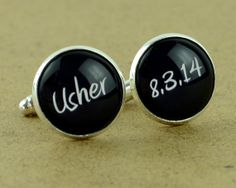 Custom Cuff Links, Personalized father of the bride wedding date cufflinks, Wedding cuff links, Groom cuff links, bestman cuff links-03 on Etsy, £21.00