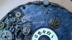 Часы стимпанк (steampunk) -Мерседес (фрагмент)